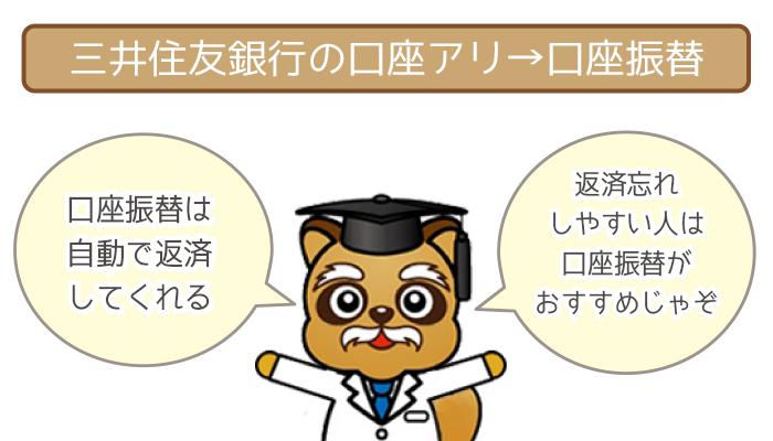 三井住友銀行の口座があるなら約定返済は口座振替1択