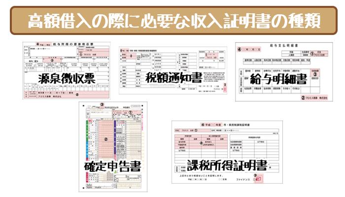 50万円超えの借り入れに必要な収入証明書