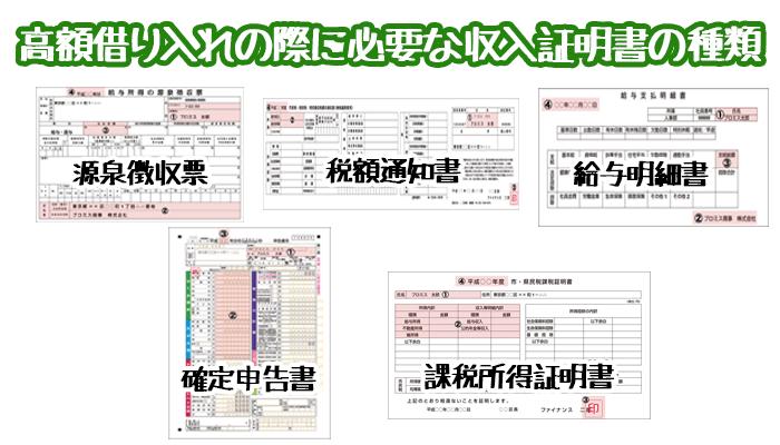 収入証明書の種類