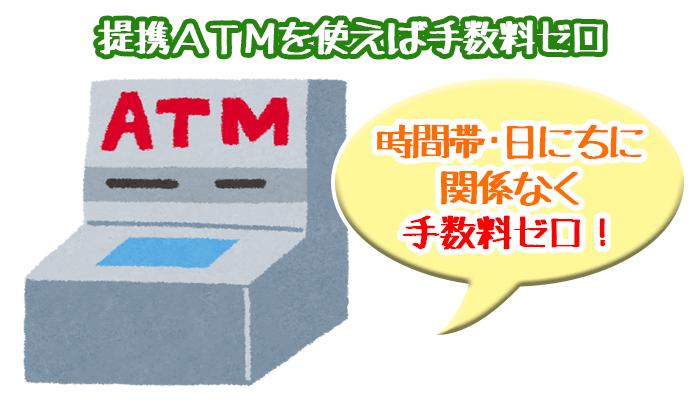 ネット銀行カードローンに手数料ゼロで返済するには:提携ATM