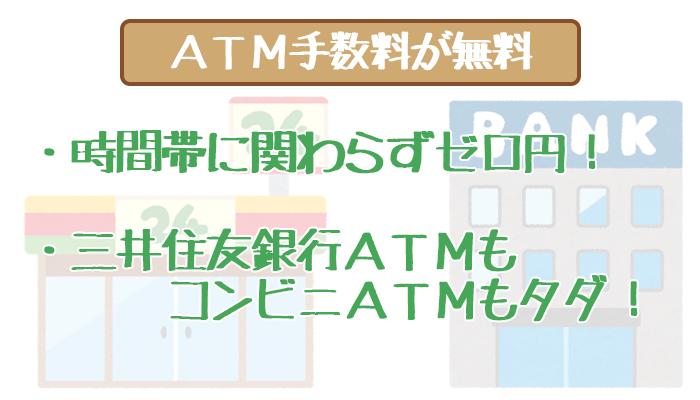 三井住友銀行カードローンのATM手数料