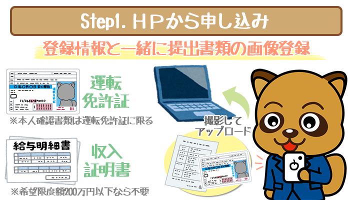 HPから申込み