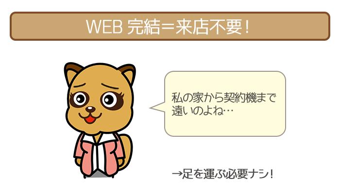 WEB完結は来店不要だから自宅や出先で手続きが完結