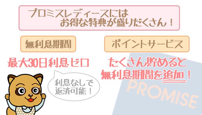 プロミスレディースのメリット②