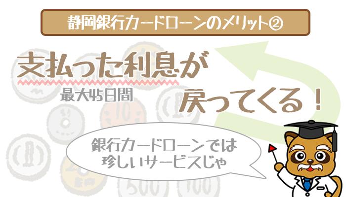 静岡銀行カードローンの最大45日分利息キャッシュバック