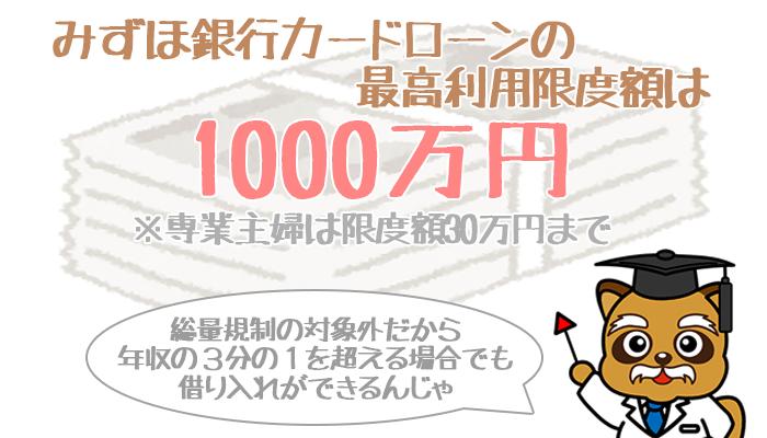 みずほ銀行1000万円まで増やせます