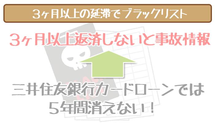 三井住友銀行カードローンの延滞でブラック
