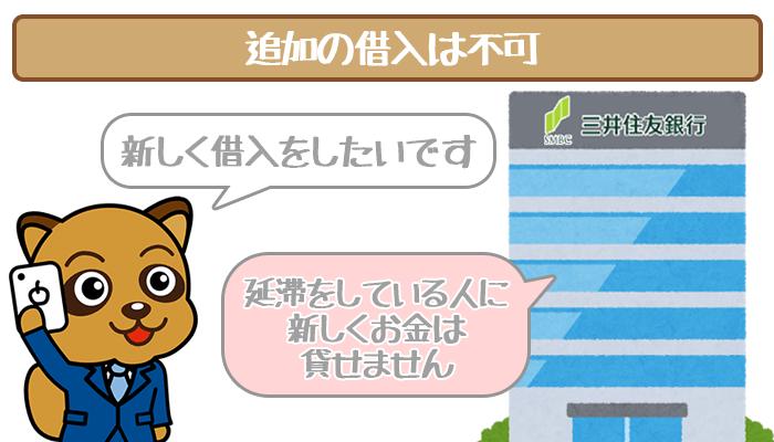 三井住友銀行カードローンで延滞している時の追加借入