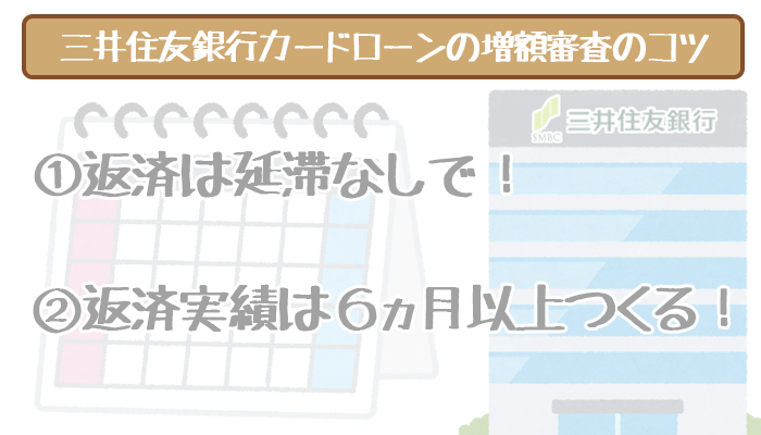 三井住友銀行カードローンの増額審査コツ