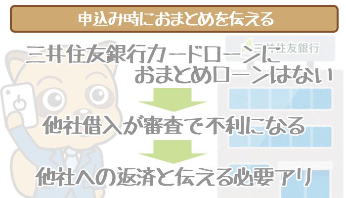 三井住友銀行カードローンにおまとめローンはない