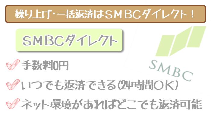 三井住友銀行の繰り上げ・一括返済はSMBCダイレクト