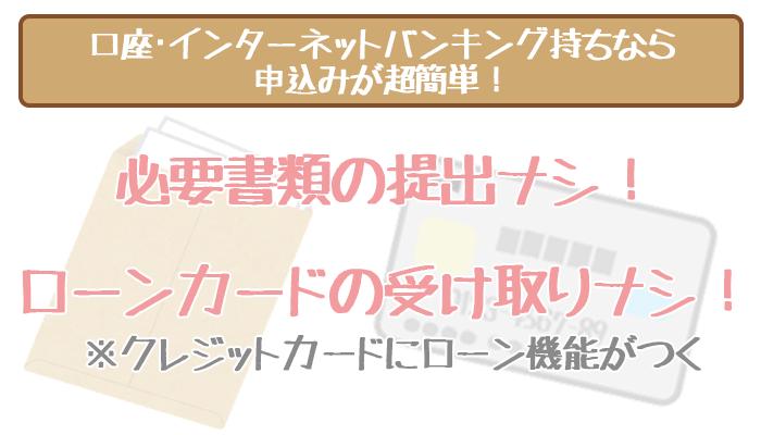 三井住友銀行口座ありなら申し込みが簡単