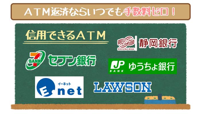 静岡銀行カードローンのATM返済