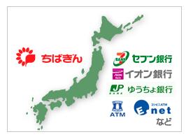 千葉銀行カードローンの利用可能ATM