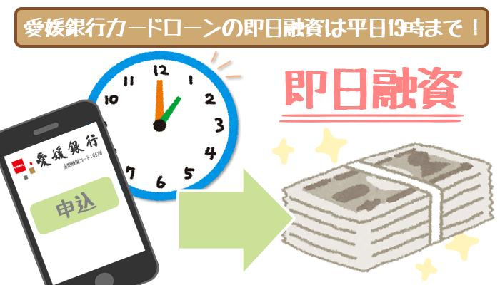 愛媛銀行カードローンの即日融資を大特集!秒速で10万借りる方法、教えます。