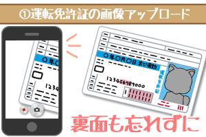 しずぎんでの運転免許証の画像アップロードは両面を忘れずに