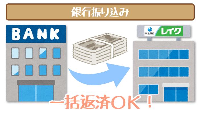 レイク銀行振込