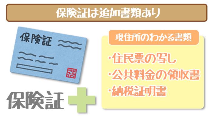 三井住友銀行カードローンで各種保険証を提出する場合は追加書類が必要