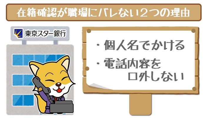 東京スター 在籍確認が職場にバレない理由