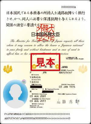 パスポート顔写真あるページ
