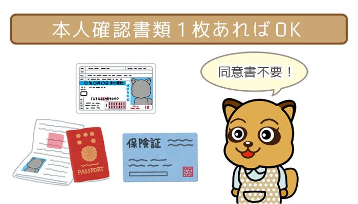 専業主婦が銀行カードローンの申し込みに必要なのは免許証1枚
