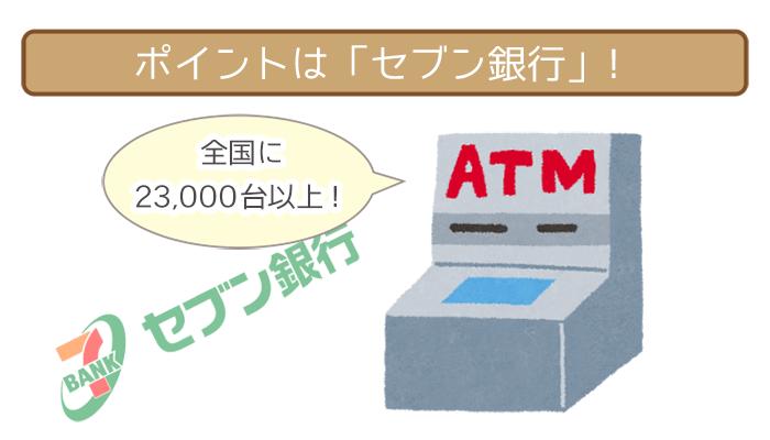 セブン銀行ATMは全国に23,000台以上あるから安心して返済できる