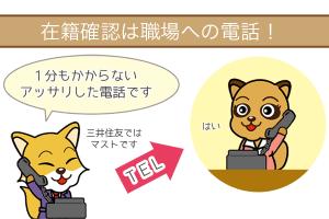 三井住友銀行カードローンの在籍確認は職場への電話
