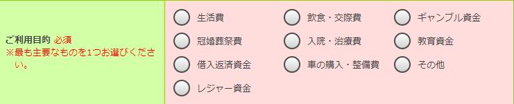 三井住友銀行カードローンの審査項目⑥:利用目的