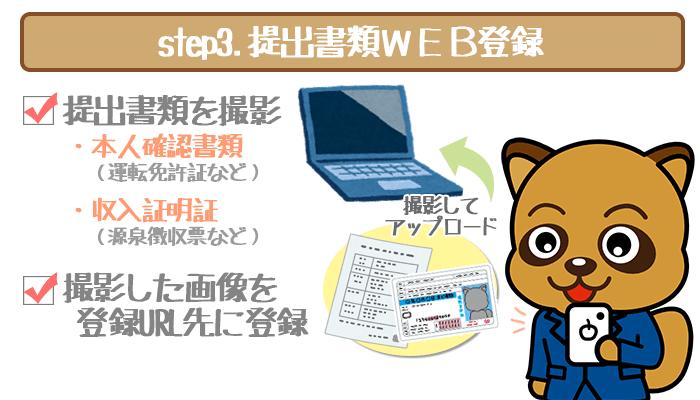 提出書類WEB登録