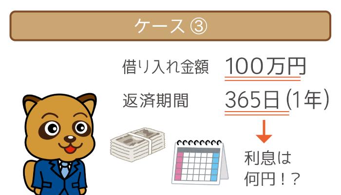 ケース③:100万円借りて180日で完済した場合
