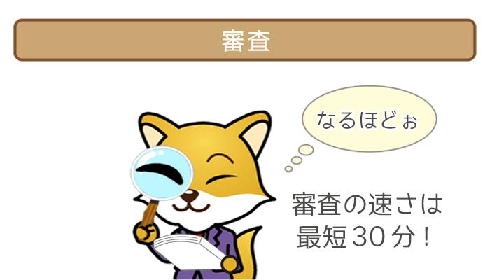審査(最短30分!)