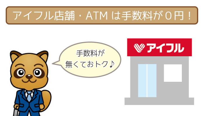 アイフル店舗・店頭ATMを使えば余計なお金がかかりません!
