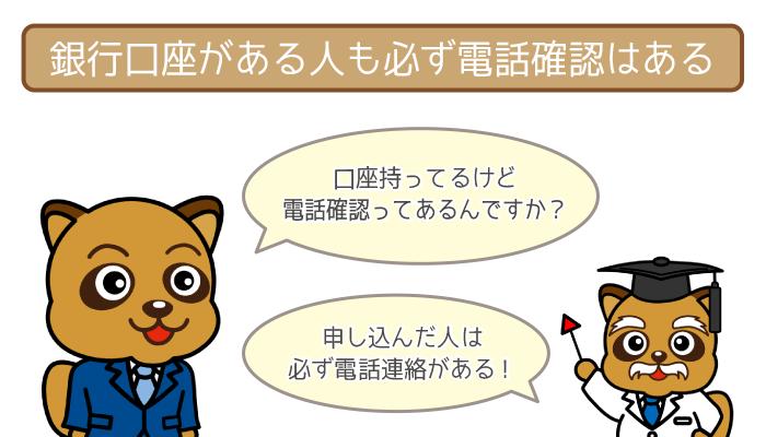 福岡銀行の口座を持っていても在籍確認は絶対行う