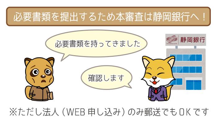 本審査申し込みは必ず静岡銀行まで出向く必要アリ!