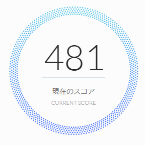 40歳・年収の同額借りている人のAIスコア診断の結果:481点