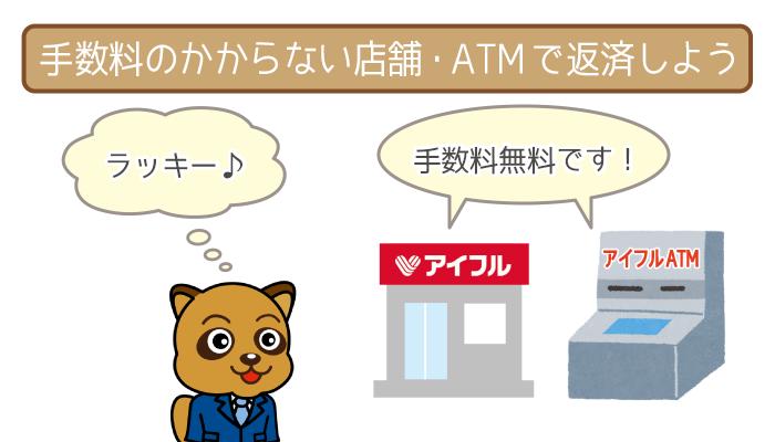 お近くのアイフル店舗・ATMでおトクに返そう!