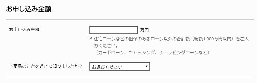 申し込みフォーム:申し込み金額