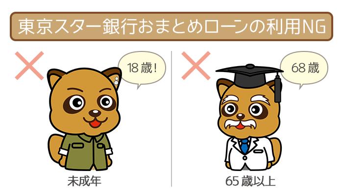 東京スター銀行おまとめローンを利用できない年齢の人