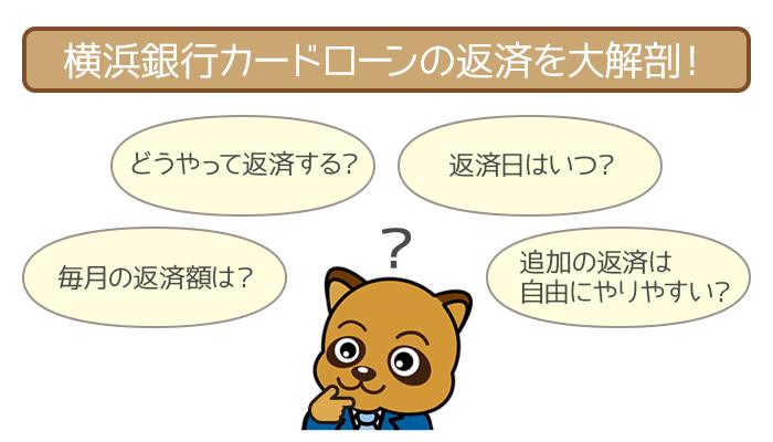 横浜銀行カードローンの返済について