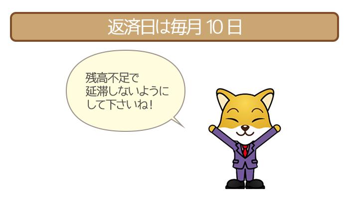 東京スター銀行おまとめローンの自動引き落とし日は毎月10日
