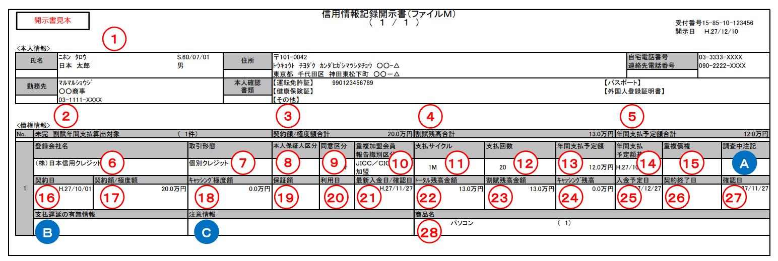 JICC・ファイルM見本