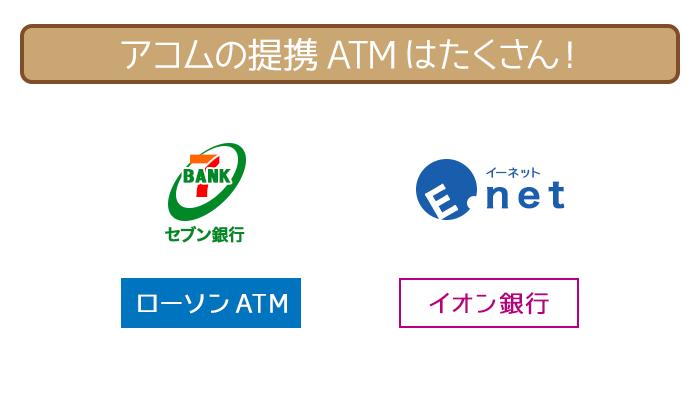 アコムの提携ATMは豊富にある