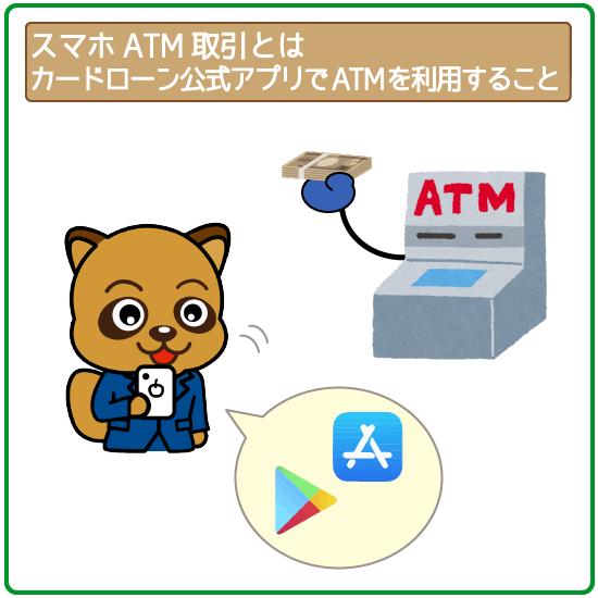 スマホATM取引は、業者の公式スマホアプリを利用してATMを使う新機能!