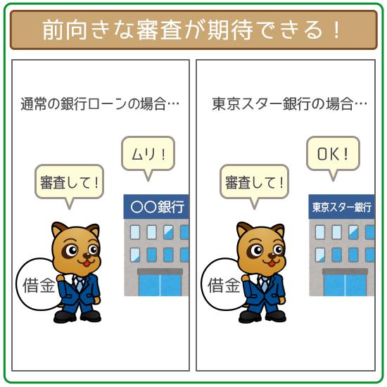 東京スター銀行は前向きな審査が期待できる!